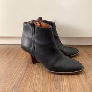 Madewell Billie black leather ankle boots, sz 7.5